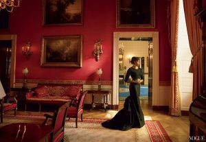Michelle Obama in Vogue trying to inspire Americans since clearly this is exactly how most Americans look like at home