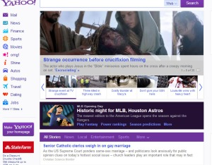 yahoo news strange occurence