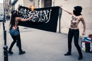 A-TOPLESS-Flag-Burning