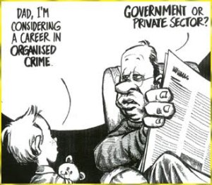 government or private cartoon