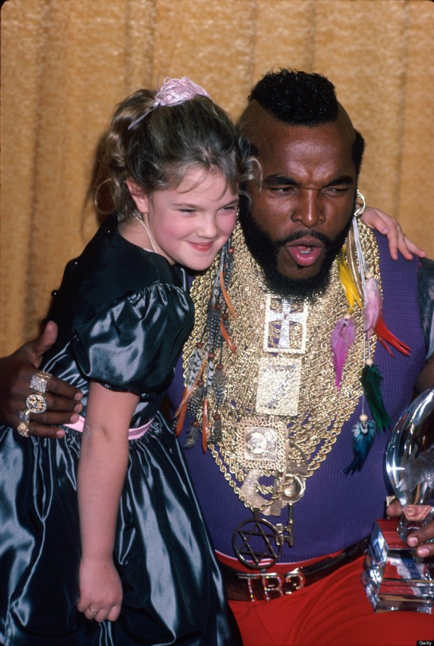 Mr. T;Drew Barrymore