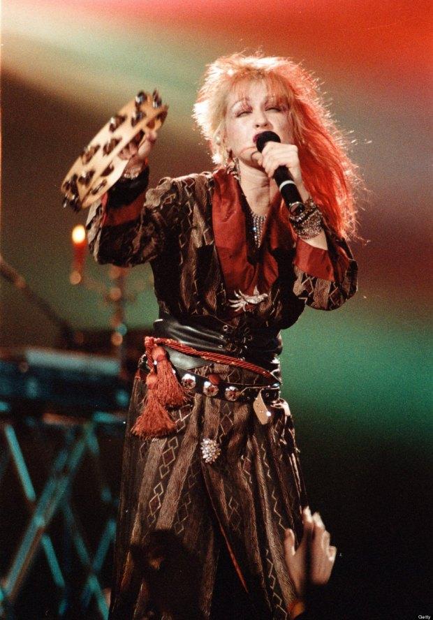 Cyndi Lauper Performs In Minnesota