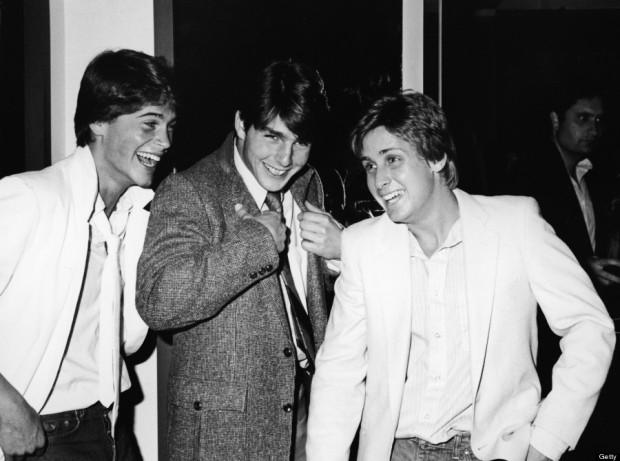 Rob Lowe, Tom Cruise, & Emilio Estevez in 1982